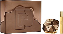 Parfémy, Parfumerie, kosmetika Paco Rabanne Lady Million Prive - Sada (edp/80ml + mini/10ml)