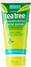 """Parfémy, Parfumerie, kosmetika Peeling na obličej na černé tečky """"Čajový strom"""" - Beauty Formulas Tea Tree Facial Scrub"""
