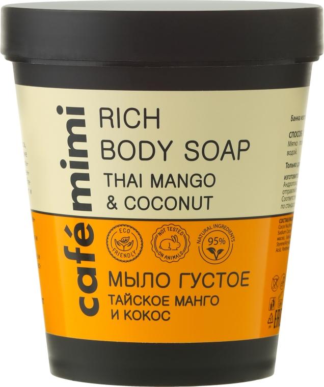 "Tekuté mýdlo ""Thajské mango a kokos"" - Cafe Mimi Soap"
