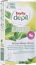 Parfémy, Parfumerie, kosmetika Voskové depilační pásky na obličej Máta a zelený čaj - Byly Depil Mint And Green Tea Hair Removal Strips Face