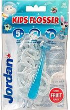 Parfémy, Parfumerie, kosmetika Sada - Jordan Kids Flosser (floss/1szt+refils/36szt)