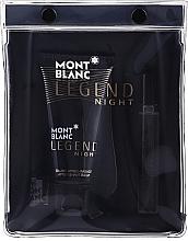 Parfémy, Parfumerie, kosmetika Montblanc Legend Night - Sada (edp/7.5ml + ash/balm/50ml)