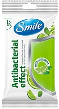 Parfémy, Parfumerie, kosmetika Vlhčené ubrousky s vitamíny, 15 ks - Smile Ukraine Antibacterial