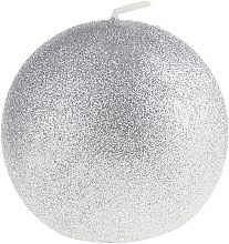 """Parfémy, Parfumerie, kosmetika Dekorativní svíčka """"Okouzlující koule"""", stříbrná, 10cm - Artman Glamour"""