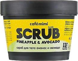 Parfémy, Parfumerie, kosmetika Peeling na tělo Ananas a avokádo - Cafe Mimi Body Scrub Pine Apple & Avocado