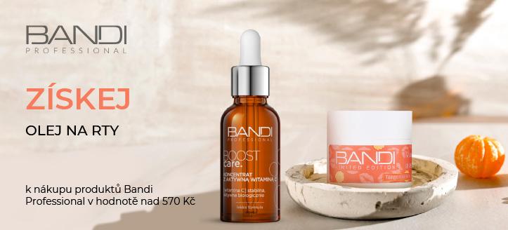 K nákupu produktů Bandi Professional v hodnotě nad 570 Kč získej olej na rty jako dárek