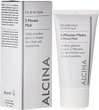 Parfémy, Parfumerie, kosmetika 5-minutová expresní maska na obličej - Alcina B 5 Minute Mask