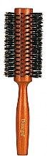 Parfémy, Parfumerie, kosmetika Kulatý kartáč na vlasy 9879, s přírodními štětinami 28/58 mm - Donegal