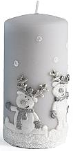 Parfémy, Parfumerie, kosmetika Dekorativní svíčka, šedá, 7x10 cm - Artman Happy Ren