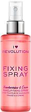 Parfémy, Parfumerie, kosmetika Fixační sprej na make-up - I Heart Revolution Fixing Spray Strawberries & Cream