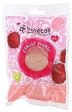 Parfémy, Parfumerie, kosmetika Houbička na mytí obličeje - Benecos Natural Konjac Sponge Red Clay