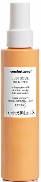 Opalovací mléko na tělo - Comfort Zone Sun Soul Milk SPF 15 — foto N1