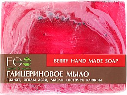 Parfémy, Parfumerie, kosmetika Glycerinové mýdlo s extraktem z bobulí Acai a brusinkovým semenovým olejem - ECO Laboratorie Berry Hand Made Soap