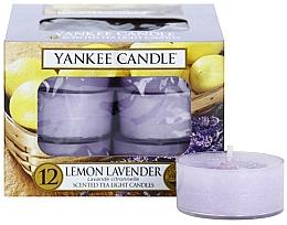 Parfémy, Parfumerie, kosmetika Čajové svíčky - Yankee Candle Scented Tea Light Candles Lemon Lavender