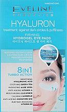 Parfémy, Parfumerie, kosmetika Osvěžující náplasti pod oči - Eveline Cosmetics Hyaluron Hydrogel Illuminating Eye Pads 8in1