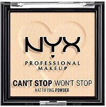 Parfémy, Parfumerie, kosmetika Kompaktní matující pudr na obličej - NYX Professional Makeup Can't Stop Won't Stop Mattifying (01 -Fair)