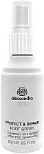 Parfémy, Parfumerie, kosmetika Antibakterální sprej na nohy - Alessandro International Spa Protect & Repair Foot Spray