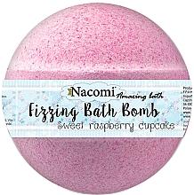 Bomba do koupele s malinovou příchutí - Nacomi Sweet Raspberry Cupcake Bath Bomb — foto N1