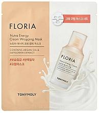 Parfémy, Parfumerie, kosmetika Energizující pleťová maska - Tony Moly Floria Nutra Energy Cream Wrapping Mask