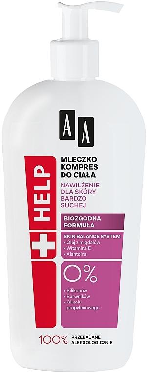 Hydratační tělové mléko - AA Help Body Milk Dry Skin