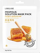 Parfémy, Parfumerie, kosmetika Pleťová maska látková s propolisem - Lebelage Propolis Solution Mask