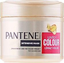 Parfémy, Parfumerie, kosmetika Intenzivní maska Ochrana barvy a lesku vlasů - Pantene Pro-V Lively Colour