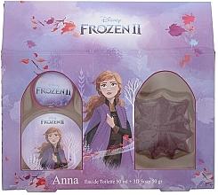 Parfémy, Parfumerie, kosmetika Disney Frozen II Anna Gift Set - Sada (edt/50ml + soap/50ml)