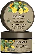 Parfémy, Parfumerie, kosmetika Peeling na vlasy a pokožku hlavy Zdraví a krása - Ecolatier Organic Marula Shampoo-Scrub