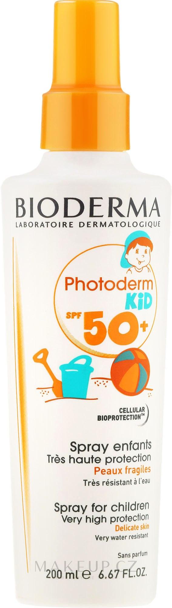 Ochranný sprej pro děti - Bioderma Photoderm Kid Spray SPF 50+ — foto 200 ml