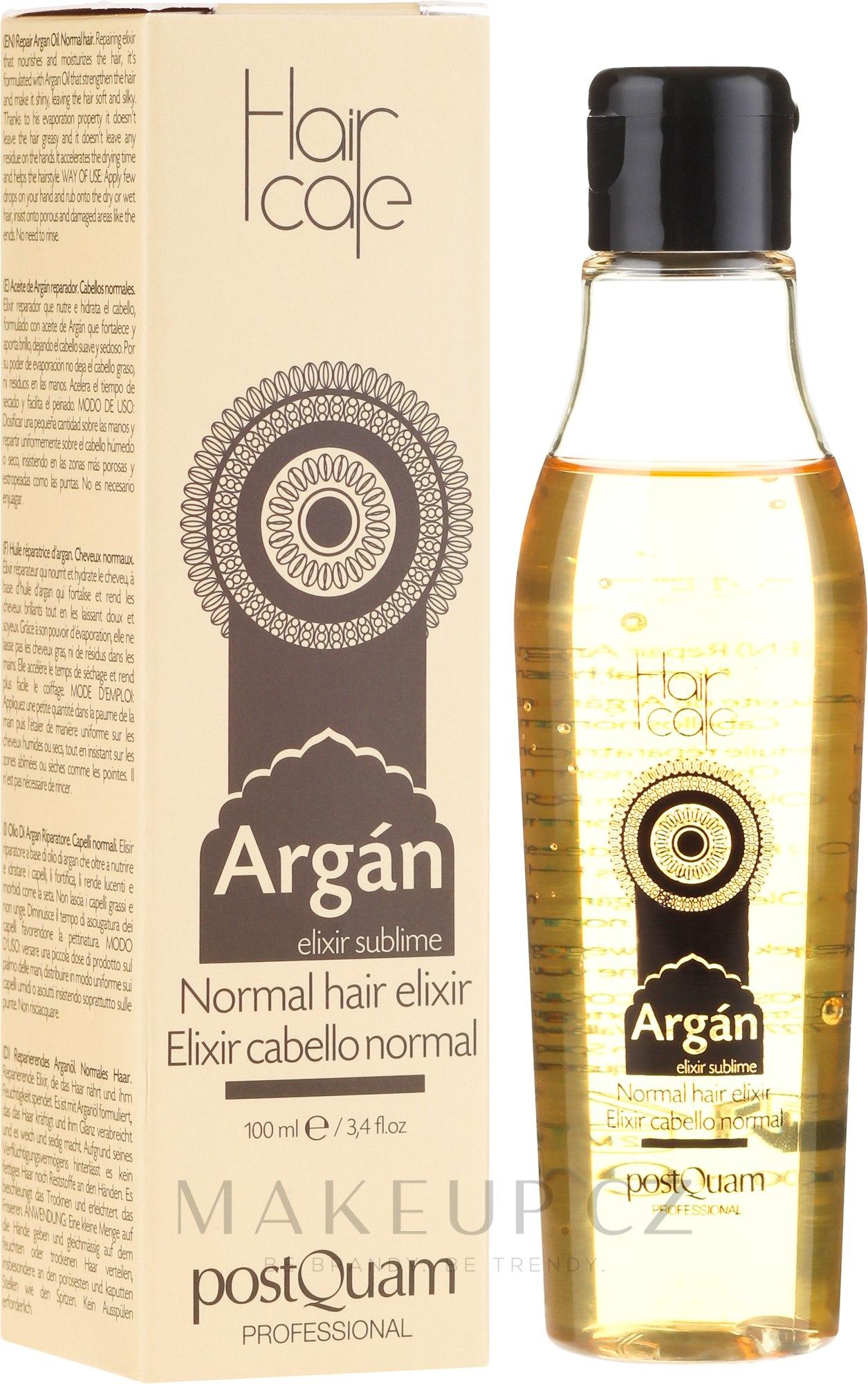 Elixír na vlasy s arganovým olejem - PostQuam Argan Sublime Hair Care Normal Hair Elixir — foto 100 ml
