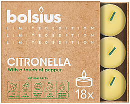Parfémy, Parfumerie, kosmetika Čajové svíčky Citronella - Bolsius Scented Lights Divine Earth Citronella