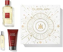 Parfémy, Parfumerie, kosmetika Guerlain Habit Rouge - Sada (edt/100ml + sh/gel/75ml + edt/10ml)