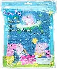 Parfémy, Parfumerie, kosmetika Sada koupelních hub Prasátko Peppa 3ks, Vesmír - Suavipiel Peppa Pig Bath Spong