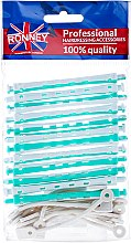 Parfémy, Parfumerie, kosmetika Natáčky na vlasy pro studenou ondulaci 6/91 mm, bílo-zelené - Ronney
