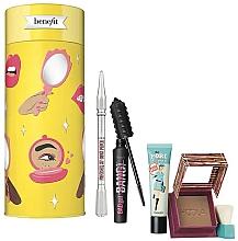 Parfémy, Parfumerie, kosmetika Sada - Benefit Cheers, My Dears! Set (mascara/8.5g + br/pencil/0.08g + f/primer/22ml + bronzer/8g)