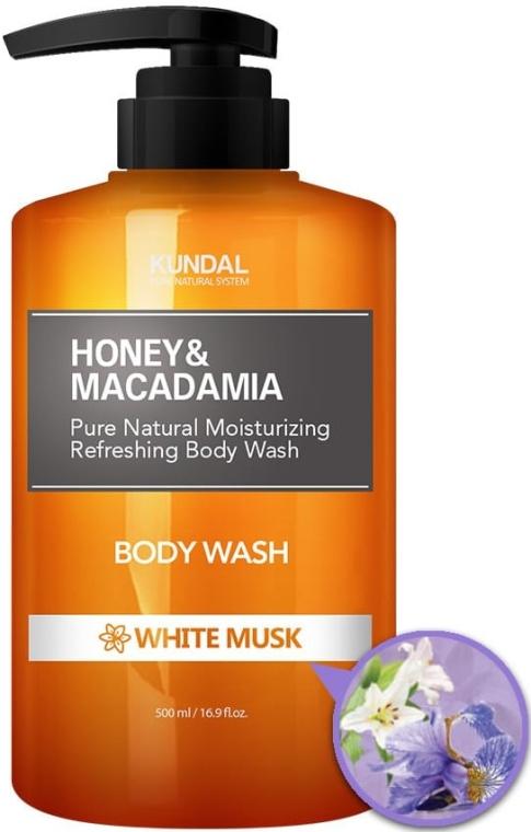 """Sprchový gel """"Bílé pižmo"""" - Kundal Honey & Macadamia Body Wash White Musk"""
