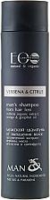 """Parfémy, Parfumerie, kosmetika Pánský šampon pro vypadávání vlasů Verbena a citrus - ECO Laboratorie Man's Shampoo from hair loss """"Verbena & Citrus"""""""