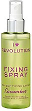 Parfémy, Parfumerie, kosmetika Fixační sprej na make-up - I Heart Revolution Fixing Spray Cucumber
