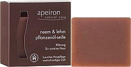 "Parfémy, Parfumerie, kosmetika Přírodní mýdlo ""Azadirachta indická a hlína"" pro problematickou plet' - Apeiron Neem & Clay Plant Oil Soap"