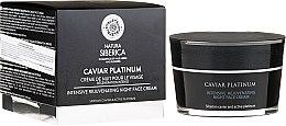 Parfémy, Parfumerie, kosmetika Intenzivní regenerační noční krém na obličej - Natura Siberica Caviar Platinum Intensive Rejuvenating Night Face Cream