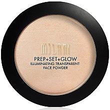 Parfémy, Parfumerie, kosmetika Pudr+primer+záře na obličej 3v1 - Milani Prep + Set + Glow Illuminating Transparent Powder