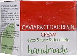 Parfémy, Parfumerie, kosmetika Krém na obličej, oční okolí a dekolt s kaviárovým extraktem a cedrovou pryskyřicí - Hristina Cosmetics Handmade Caviar & Cedar Resin Cream