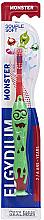 Parfémy, Parfumerie, kosmetika Dětský zubní kartáček, 2-6 let, červený - Elgydium Kids Monster Toothbrush