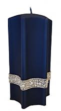 Parfémy, Parfumerie, kosmetika Dekorativní svíčka Hvězda, modrá, 9x18cm - Artman Crystal Opal Pearl