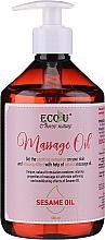 Parfémy, Parfumerie, kosmetika Masážní olej - Eco U Massage Oil Sesame Oil