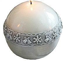Parfémy, Parfumerie, kosmetika Dekorativní svíčka, koule, bílá, 8 cm - Artman Christmas Time