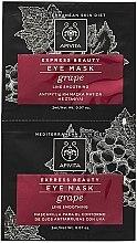 Parfémy, Parfumerie, kosmetika Maska proti vráskám s hroznů pro pleť kolem očí - Apivita Express Beauty Eye Mask Grape