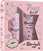 Parfémy, Parfumerie, kosmetika Sada - 7 Days Illuminate Me Rose Girl (b/milk/150ml + mist/180ml)