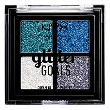Parfémy, Parfumerie, kosmetika Paleta krémových třpytek - NYX Professional Makeup Glitter Goals Cream Quad Palette