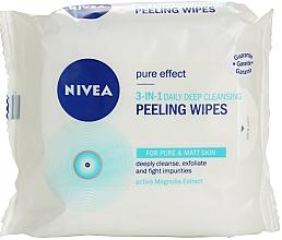 Parfémy, Parfumerie, kosmetika Čisticí peelingové utěrky 3 v 1 - Nivea Visage Pure Effect Peeling Wipes